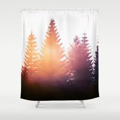 Morning Glory SHOWER CURTAIN by Tordis Kayma