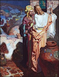 Nicodemus comes to Jesus at night, Dean Cornwell 1928