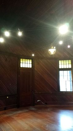 Sept/Oct 2015 - We've cleared out the Depot Bookstore in order to refinish the floor, and suddenly the room (not surprisingly) feels entirely different! Its size and unique shape are much more evident. The former gentlemen's waiting room with its curved wall is a beauty (even more with the floor refinished, which is not shown here).