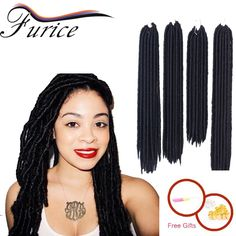Synthetic Faux Locs Braid Hair Extension Crochet Twist Hair Extensions MEN AND GIRL Kinky Dread Hairstyles Black Dreadlocks-in Bulk Hair from Health & Beauty on Aliexpress.com   Alibaba Group