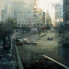 Ricardo Galan Urrejola Art Gallery, Landscape Artwork, Cityscape Art, Street Painting, Architecture Sketchbook, Cityscape Painting, Building Painting, Watercolour Inspiration, 2d Painting