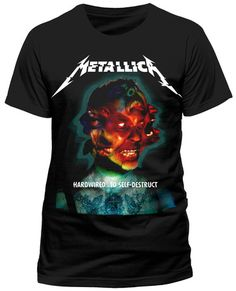 Ladies Metallica Hardwired to Self Destruct Official Tee T-Shirt Womens Girls Officially Licensed Product Brand new and with tags Individually sealed High quality print Cotton Metal Shirts, Rock T Shirts, Tee Shirts, Metallica Clothing, Hardwired To Self Destruct, Band Merch, All Black Everything, Budget Fashion, Women's T Shirts