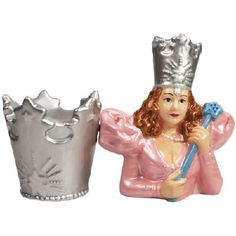 The Wizard of Oz Glinda and Crown Magnetic Salt and Pepper Shakers