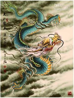japanese dragon painting google search japanese dragons snakes pinterest more japanese. Black Bedroom Furniture Sets. Home Design Ideas