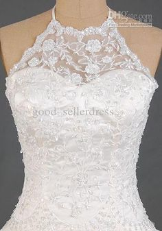 Wholesale halter Lace Corset Wedding Dresses Lovely Lace Overlay With Train Sexy Organza 2012 Wedding Dress, Free shipping, $121.05/Piece | DHgate Mobile