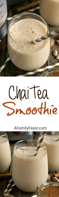 Chai Tea Smoothie - A delicious, spicy way to start your morning! Made with a homemade chai concentrate.: