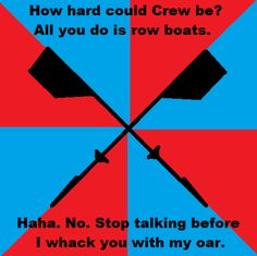how hard could crew be? (for the kid...i swear theres always one pic where it looks like he's hitting someone with an oar.)