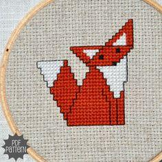 Origami Fox Cross Stitch