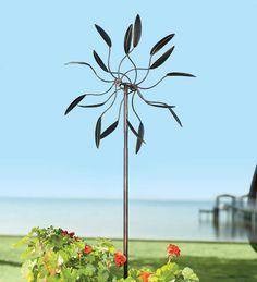 From Plowandhearth.om Kinetic Steel Garden Windmill, $89.95