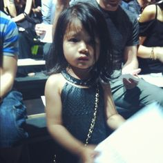 Alexander Wang's niece in a Wang original. ( #NYFW #Throwback )