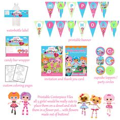 lala lopsy birthday ideas | ... booth » SOLD: Entire Lalaloopsy Birthday Package Digital Files