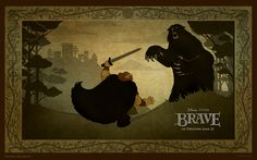 King Fergus fighting a bear #Brave