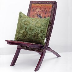 Green Throw Pillow, Handmade Indian Mirror Work Pillow, Decorative Gypsy PIllow, Ethnic Indian Floor Pillow, Bohemian Pillow
