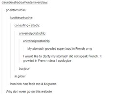 On French class: