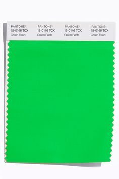 These are the colors to watch for in spring 2016: Green Flash (Pantone 15-0146)  http://www.pantone.com/pages/fcr/?season=spring&year=2016&pid=11