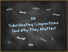 50 Subordinating Conjunctions and Why They Matter Grammar Help, Grammar And Punctuation, Spelling And Grammar, Subordinating Conjunctions, Grammar Activities, Teaching Writing, Arts And Crafts Movement, Arts And Crafts Projects, Art Education