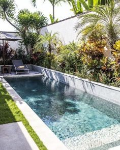 45 swimming pool ideas for your small garden 21 - # for . Garden garden ideas backyard 45 swimming pool ideas for your small garden 21 - # for ., # for Garden 45 swimming pool ideas for your small garden 21 - # … Swimming Pool Landscaping, Small Swimming Pools, Small Pools, Swimming Pool Designs, Backyard Landscaping, Landscaping Ideas, Backyard Patio, Lap Pools, Indoor Pools