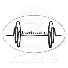 Live Love Lift Bar Black Oval Sticker #CrossFit $5.24