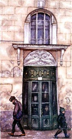 Сеченовский переулок. Прогулка по Москве. Картины Алены Дергилевой