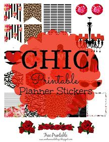 Free Printable Chic Planner Stickers Andrea Nicole Blogs | @andreanicoleblogs #andreanicoleblogs.