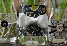 Recycled decor, looks fun and it would be easy to fit any decor because pretty paper is limitless...