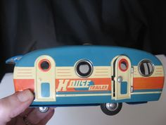 Toy Tin Litho House Trailer/Camper - made in Japan