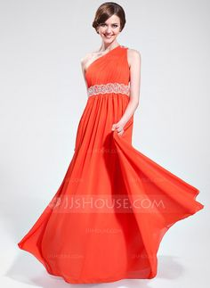 Prom Dresses - $139.99 - A-Line/Princess One-Shoulder Floor-Length Chiffon Prom Dress With Ruffle Beading (018025621) http://jjshouse.com/A-Line-Princess-One-Shoulder-Floor-Length-Chiffon-Prom-Dress-With-Ruffle-Beading-018025621-g25621?ver=1
