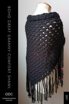 Boho Great Granny Comfort Shawl https://oombawkadesigncrochet.com/2017/03/boho-great-granny-comfort-shawl.html
