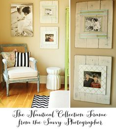 pallet wood picture frames. Just need to get my hands on my pallets.