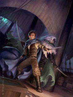 m Drow Elf Ranger m Rogue Thief Pirate ship coastal desert jungle stowaway Fantasy Artwork, Fantasy Art Men, Fantasy Concept Art, Fantasy Warrior, Fantasy Rpg, Fantasy Fighter, Fantasy Books, Drizzt Do Urden, Character Concept