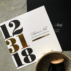 Letterpress + Foil perfection for this NYE wedding! Chic Wedding, Dream Wedding, Wedding Dreams, Wedding Things, Engagement Party Planning, Wedding Planning, New Years Wedding, Gatsby, Nye Party