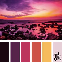 25 Color Palettes Inspired by the Pantone Fall 2017 Color Trends Colour Pallette, Colour Schemes, Color Trends, Design Seeds, Palette Design, Style Deco, Sunset Colors, Color Swatches, Color Theory