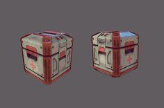 Alex Downham High Poly Space Crate Marmoset Render 2