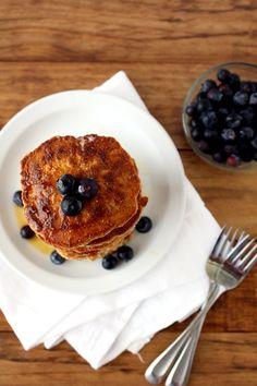 gluten free cinnamon oat pancakes
