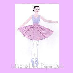 Leah Ballerina Paper Doll by LVKPaperDolls on Etsy