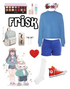 """""""Frisk - undertale"""" by xcreepygirlx ❤ liked on Polyvore featuring Acne Studios, J.Crew, Kate Spade, Converse, Rock 'N Rose, Red Camel, Anastasia Beverly Hills, Rimmel, Maybelline and Casetify"""