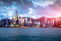 Hong Kong - Victoria harbour, Hong Kong city skyline
