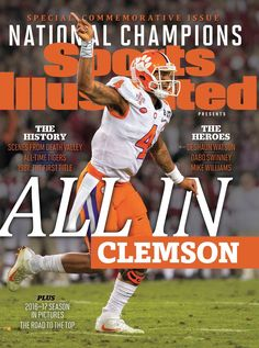 2016 National Champions......I wonder where they got the 'All In' from?  And their Tiger name?  Oh well, they beat Bama, so...gotta be happy!