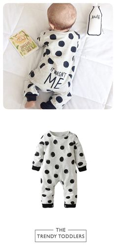 Free Worldwide Shipping! SHOP Our Polka Dot Baby Jumpsuit
