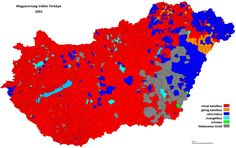 Religious map of Hungary 2001 _ 1