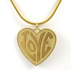 Vintage Heart  Love Gold Necklace by TashaHussey on Etsy, $42.00