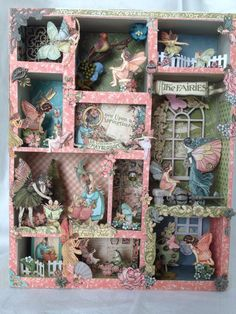 Tim Holtz Configuration Box with Graphic 45 Once Upon a Springtime papers