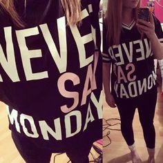 Never say Monday #pyjamas