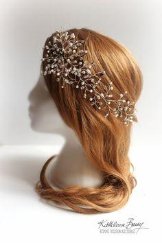 R1300 Mich Hairpiece hair vine Wedding by KathleenBarryJewelry