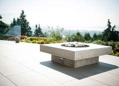 minimalist fire feature by landscape furnishings
