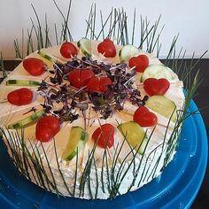 Festliche Sandwichtorte von Esslust | Chefkoch Sandwich Torte, Sandwiches, Fruit Salad, Acai Bowl, Breakfast, Food, Pies, Essen, Recipies