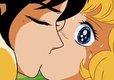 Terry y Candy... Y esta fue la primera escena de beso que vi en un anime a la tierna edad de 7 años (aunque en esa época no sabía lo que era anime) y me dije: ahhhhhhhhh?? eso pasa en lo muñequitos también... Y luego me encantó el Shoujo jujuju