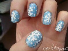 Snowflake Nails - Winter Christmas Nail Art