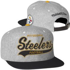 Mitchell   Ness Pittsburgh Steelers Tailsweep Snapback Adjustable Hat - Gray ed7af2d30971