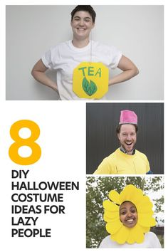 These D.I.Y. Halloween costumes require, at most, the skills of a precocious 6-year-old with access to a glue gun. Diy Halloween Costumes, Halloween Ideas, Lazy People, Best Blogs, Easy Diy, Glue Gun, Group, Board, Glue Guns